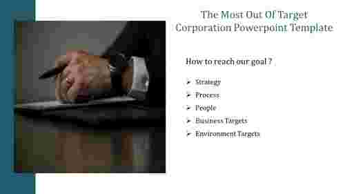 A five noded target corporation powerpoint template